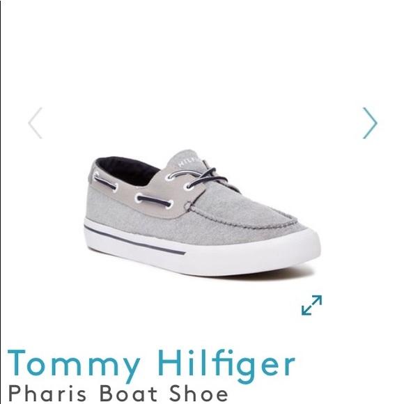 2dee6586719a74 Tommy Hilfiger gray Pharis Boat Shoe. M 5ae23df62ab8c52b83507006